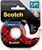 Scotch Removable Poster Tape, Clear Double Sided Tape, 3/4-in x 150-in, Clear, 1 Roll