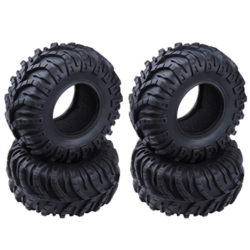 Hobbypark OD 128mm 2.2 inch Tires with Foam Inserts for 1/10 RC Rock Crawler Truck Replacement (4-Pack)