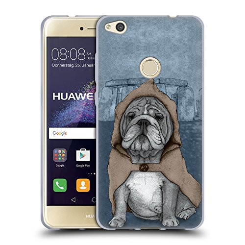 Head Case Designs Ufficiale Barruf Bulldog Inglese Cani Cover in Morbido Gel Compatibile con Huawei P8 Lite (2017)