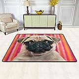 Alfombra antideslizante para sala de estar, diseño de cabeza de perro triste