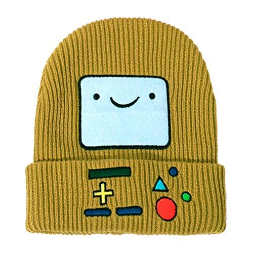 Sombrero de Punto de Invierno para niños, Gorro de Invierno, Gorro Informal de Dibujos Animados con Robot, Gorro de Sonrisa, Bufanda cálida al Aire Libre para niños