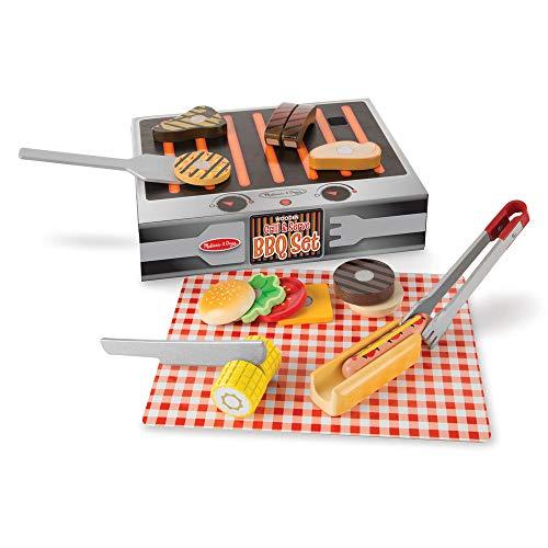 Melissa & Doug Wooden Grill & Serve BBQ Set