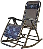 JUUY Sillón reclinable portátil para jardín, tumbonas, silla plegable para oficina, almuerzo, reclinable, silla reclinable