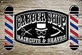 EpochSign Letrero de Metal de Barber Shop D ¨¦Cor Letrero de Arte de la Pared Placas, barbería, decoración Interior y Exterior, 20 x 30 cm