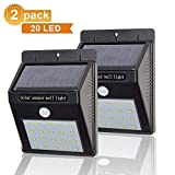 Veecap Pack of 2 Pices Waterproof Bright Solar Wireless Security Motion Sensor 20