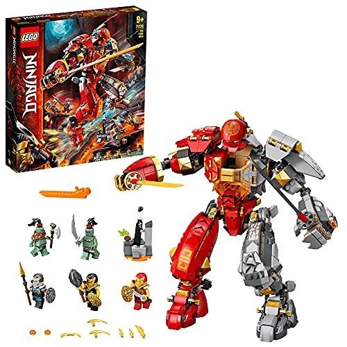 LEGO 71720 Ninjago Le Robot de feu et de Pierre, avec Figurines de Ninja