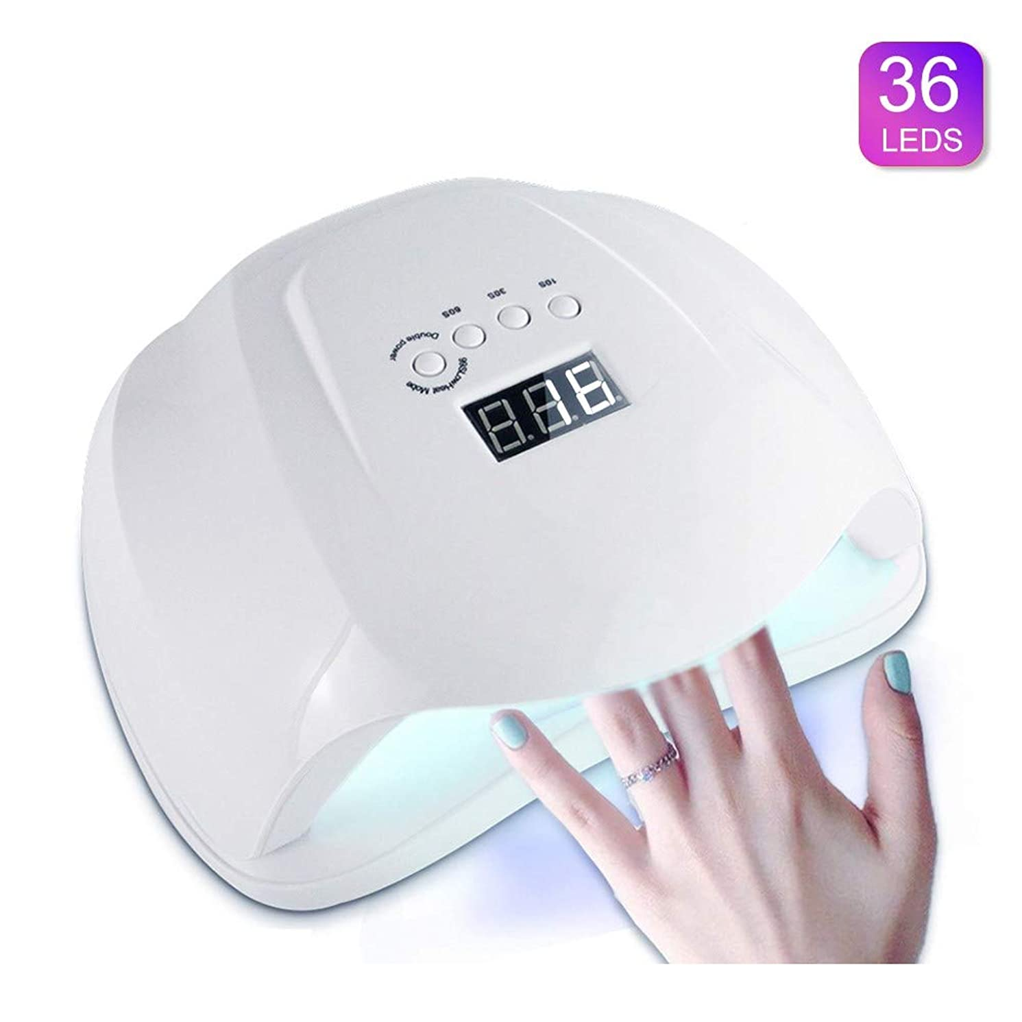 洗う家具再生54ワットネイルドライヤーランプled紫外線ネイルランプ液晶ディスプレイネイル硬化ランプライト付きセンサー4タイマー設定54ワットパワー用ledビルダージェルフィンガーネイルポリッシュLEDネイルドライヤー