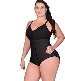 Women's Adjustable Body Shaper Jumpsuit Comfortable High Compression Bodysuit Firm Control for Tummy, Butt (Black)