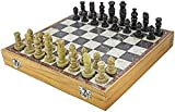 Chess Masters Marble Soapstone Chess Board Game (Multicolour, 12-inch)