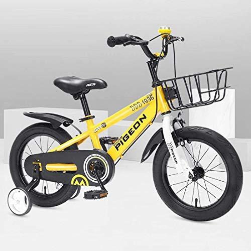 Bicicleta para Niños y Niñas Bici for niños muchachas de los muchachos del estilo libre de la bicicleta 12 14 16 pulgadas con ruedas de entrenamiento, de 12 pulgadas con la bici azul Naranja Rojo Verd