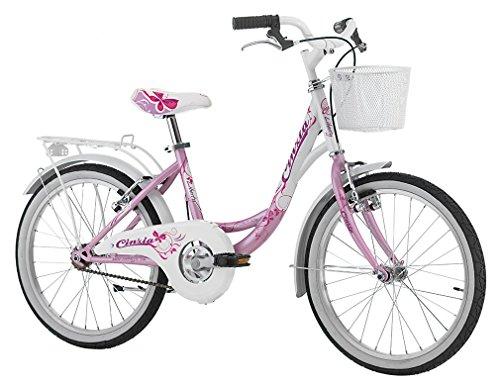CINZIA Bici Liberty 20'' Bicicletta Rosa Perla per Bambina Senza Cambio