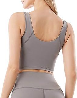 V-Neck Yoga Workout Bra Crop Tops Women Anti-Sweat Wireless Plain Gym Fitness Sport Brassiere Nylon Active Wear
