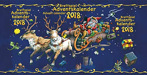 Frosted Games FRG00015 Brettspiel-Adventskalender 2018, Mehrfarbig