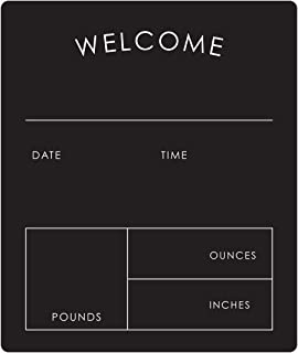 """Welcome to The World Newborn Blackboard Sign / 10"""" x 12"""" Chalkboard Style Sign/Simple Neutral Baby Announcement Photo Prop"""