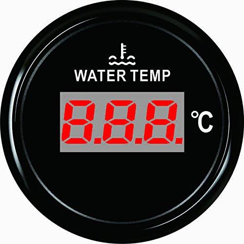Jauge de température de l'eau numérique Mètre 40-120℃ avec rétro-éclairage 52mm 9-32V