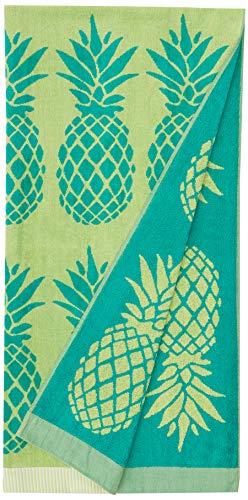 AmazonBasics - Hochwertige Strandtücher - kleine grüne Ananas