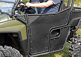 SuperATV Pair of Aluminum Doors for Polaris Ranger Full Size XP 800 UTV (2009-2014) - Heavy-duty, Lightweight, and Durable with Two Mounting Points - Pre-assembled for Quick and Easy Installation
