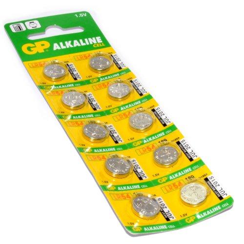 GP Alkalisch Cell Zelle Batterie LR54 189 V10GA D189A 1,5v STK Von 10