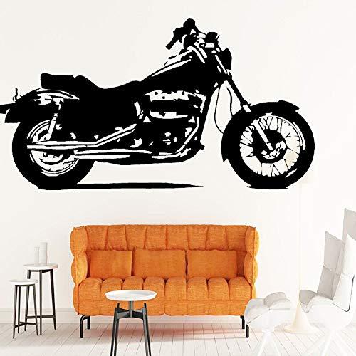 Vintage motocicleta patrón pegatinas de pared sala de estar dormitorio tatuajes de pared vinilo autoadhesivo impermeable pegatinas clásicas A5 43X80CM