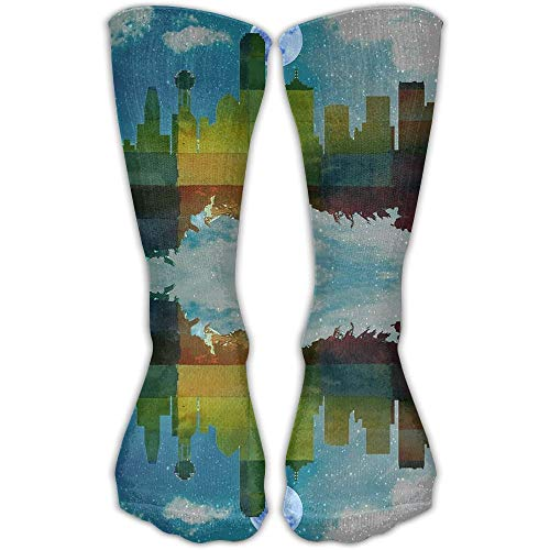 Unisex Classics Socken Dallas City Skylines Amazing Athletic Stockings Lange Socke Einheitsgröße 30 cm
