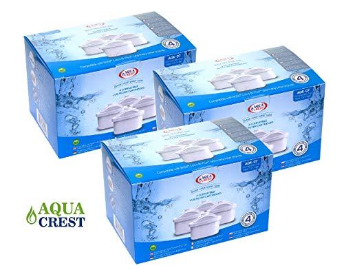 AquaCrest AK-07 unterstützte Brita Mavea Maxtra 1001122 Jug Filterpatronen (12)