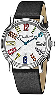 Stuhrling Original Unisex Silver Dial Leather Band Watch - 301.33152