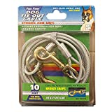 Four Paws Walk-About Rust Resistant Galvanized Steel Tie-Out Cable for Dogs, 10-Foot