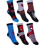 6 Paar Spiderman Jungen Socken Marvel Kinder Strümpfe 23-26