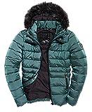Superdry Taiko Padded Faux Fur Womens Jacket UK 14 Reg Dark Teal