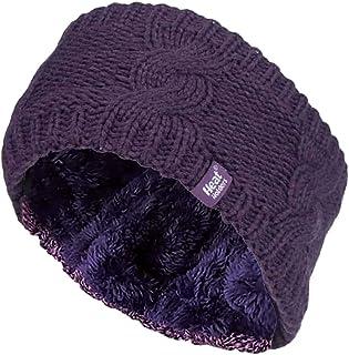 Heat Holders - Womens Knit Fleece Insulated Winter Thermal Ear Warmer Headband