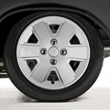 Upgrade Your Auto Set of Four 15' Silver Hubcap Wheel Covers for 2006-2011 Ford Focus (Push-on)