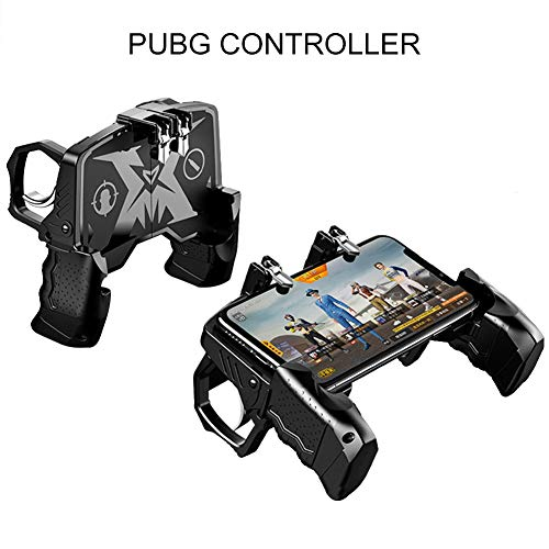 Super PUBG Mobile Game Controller, 4-in-1 Gamepad Handy Controller, Sensitive Shoot Fire und Aim Buttons Pubg Controller, for 4.7in-6.5in Android IOS Phone