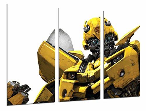 Cuadro Fotográfico Transformers Amarillo, Autobots, Bumblebee, Blanco Tamaño total: 97 x 62 cm XXL