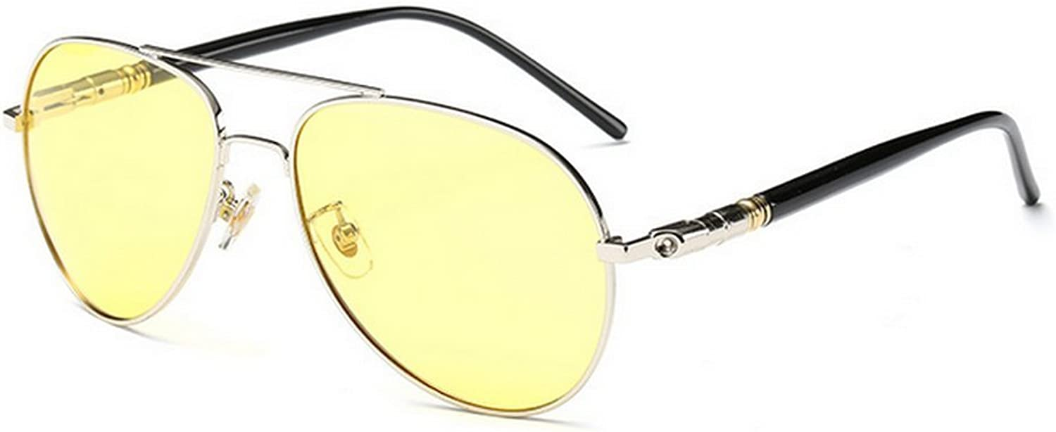 MINCL Night View Night Vision Polarized Pilot Driver's Yellow Glasses Sunglasses