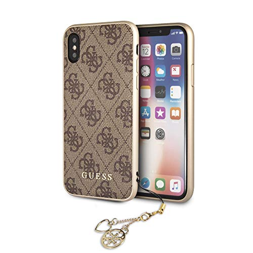 Preisvergleich Produktbild Guess Hard Case with Phone Charm - iPhone X / XS - Brown
