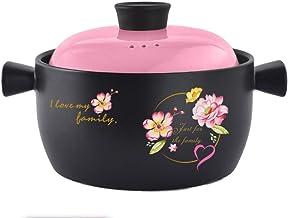 Practical Casserole XLTCG Ancient Cookware Ceramics Clay Pot, Non-stick Cooking Pot, High Temperature Resistance Pan Steam...