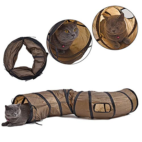 NA S Cat Tunnel Plegable, Pet Cat Tunnel Tube Juguetes para Gatos,...