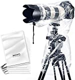 Movo (5 Pack) RC1 Clear Rain Cover for DSLR Camera and Lens up