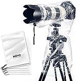 Movo RC1 Paquete de 5 Protectores de Lluvia Transparentes para cámaras DSLR y Objetivos hasta 46cm de Largo