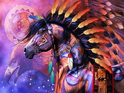 Tangram 1000 Piezas Colorido Mariposa y Flor Rompecabezas Moderno decoración del hogar Estilo (Color : Colorful Horse Head Back View Eagle)
