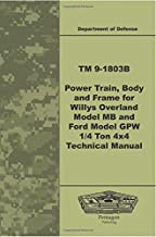 TM 9-1803B Power Train, Body, and Frame for Willys Overland Model MB and Ford Model GPW ¼ Ton 4x4 Technical Manual