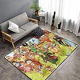 haoqianyanbaihuodian Alfombra de anime para dormitorio, camping, suave, para niños, niñas, guardería, hogar, habitación, cómoda y duradera, alfombra de poliéster de 156 x 95 cm
