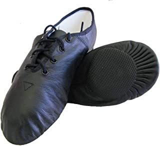 The Dance Bible Soft and Comfortable Leather Jazz Dance Shoes in Black Color for Dance Class, Stage Performance and Professional Kids, Girls, Boys, Women, Men Dancers