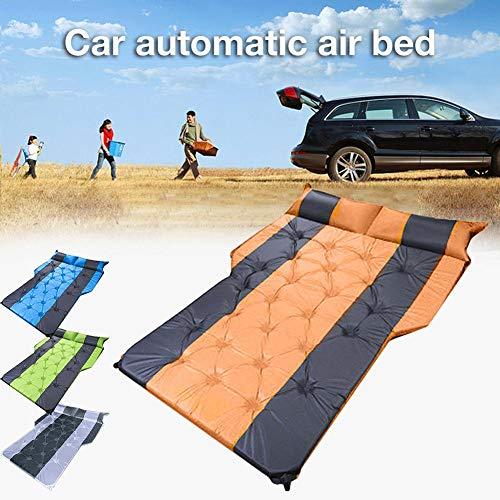 Globqi Opblaasbaar luchtbed voor auto, camping, vakantie, opblaasbaar slaapkussen voor achterbank, vrachtwagen, SUV, minivan, snel opblazen in compacte afmetingen