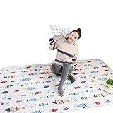 Krabbeldecken Weißfische Muster Cartoon Baumwolle einfarbig Haushalt Tatami Raupe Pad Maschine kann...