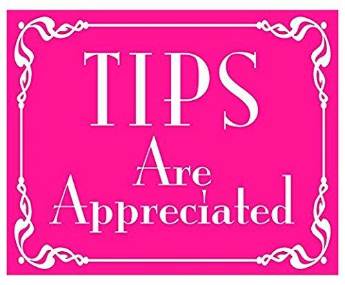 PINK Tips Are Appreciated Sticker (jar bartender service)- Sticker Graphic Decal