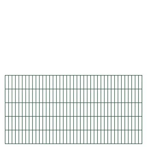 Doppelstab-Gittermatte, feuerverzinkt, grün kunststoffbeschichtet RAL 6005 6/5/6 mm, 2000 mm breit