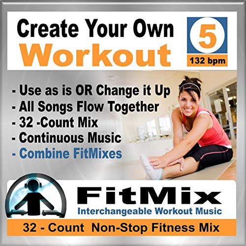Create Your Own Workout Vol.5 - New Music Re-Mix for Group Fitness, Kickboxing, Step, Running, Cycling, Cardio,132 Bpm (Non-Stop)
