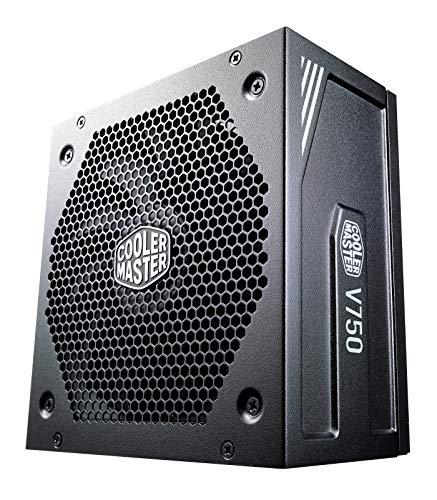 Cooler Master Alimentatore V750 Gold V2, Presa EU, 750 W, 80 PLUS Gold, Completamente Modulare, Alimentatore ATX, Ventola FDB Silenziosa 135mm, Modalità Semi-Fanless, Black Edition