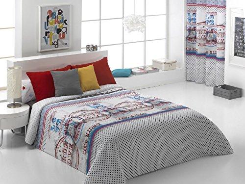 Quilt & CO Fundas Nordicas, Violeta, para Cama de 105 cm, 180 x 220 cm